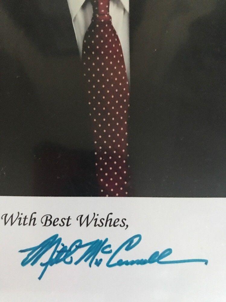 Mitch McConnell 1988 Kentucky Senator Hand Autographed Signed Photo 8x10 COA