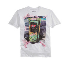 NEW MENS AMERICAN RAG NEW YORK STREET ART FRESH GRAPHIC WHITE T SHIRT TEE - $9.99