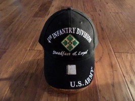 U.S ARMY 4TH INFANTRY DIVISION HAT MILITARY BASEBALL CAP STEADFAST & LOYAL - $34.99