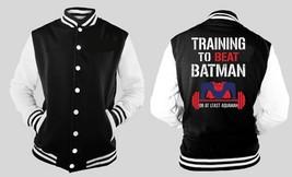 Training to beat Batman Base Ball LETTERMAN VARSITY BASEBALL FLEECE JACKET - $28.70+