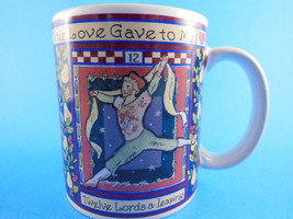 Pipers piping Ladies Dancing Lords a Leaping Days of Christmas Mug CIC - $7.91