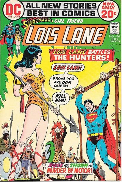 Superman's Girlfriend Lois Lane Comic Book #124, DC Comics 1972 FINE+
