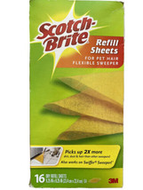 scotch brite 3M 15 refill sheets for pet hair flexible sweeper - $27.01