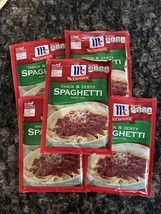 5 packs McCormick THICK & ZESTY Spaghetti Sauce Mix 1.37 oz Exp Sept 2022 - $25.73