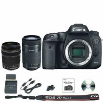 Canon EOS 7D Mark II DSLR Camera Body + 18-135mm + 55-250mm STM Lens - $1,574.81