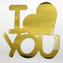 Word I Heart You Plastic Shapes Confetti Die Cut FREE SHIPPING - £5.32 GBP