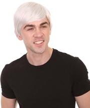 Short Boy Band Wig | White Cosplay Halloween Wig | Premium Breathable Capless Ca - $26.85