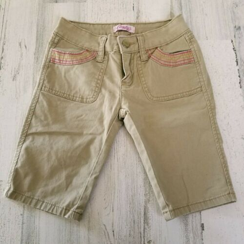 Primary image for Girls Size 7 Stretch Candies Khaki Tan Capri Pants