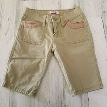 Girls Size 7 Stretch Candies Khaki Tan Capri Pants  - $9.69