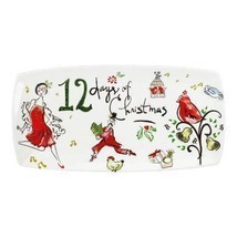 4 Lenox 12 DAYS OF CHRISTMAS Large Hors D'Oeuvres Tray NIB MSRP $80 DISC - £23.49 GBP
