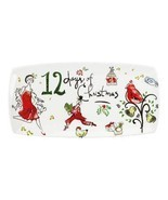 4 Lenox 12 DAYS OF CHRISTMAS Large Hors D'Oeuvres Tray NIB MSRP $80 DISC - $29.99