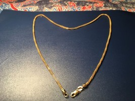 """Lady's Double Inter Twine 14k Gold Necklace, 18.5"""" & 7 grams. - $282.15"""