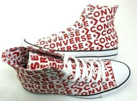 Converse Mens CTAS Hi White Red Enamel Logo Canvas Casual Shoes Size 8 NEW   - $54.44