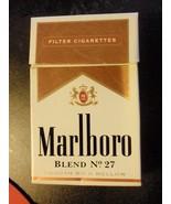 CIGARETTE BOX EMPTY PACK USA MARLBORO BLEND No 27 - $3.33