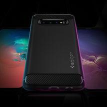 Galaxy S10/ S10 Plus/ S10e Spigen® [Rugged Armor] Black Protective Case ... - $24.00
