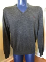 Polo Ralph Lauren 100% Merino Wool Custom Fit Jumper Grey XL Extra Large... - $28.02