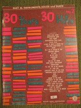 Original Vintage 1967 No 2 30 YEARS 30 HITS Song Book Arrangements 48 pgs - $11.57