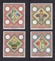 1973 Diocese of Prague Set of 4 Vatican Postage Stamps Catalog Number 541-44 MNH