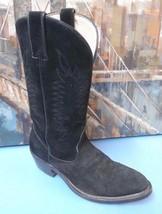 Sheplers Men's Black Suede/Leather Western Cowboy Boots Wide Size 8.5D U... - $52.35