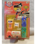 Vintage 1980's Arkin A-OK Products Plastic Esso Gas Station Toy Set MIP - $8.95