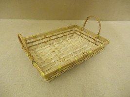 Standard Basket 15in W x 11in D x 6 1/2in H Natural Tone Handles Wood Wicker - $18.68