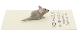 Hagen-Renaker Miniature Ceramic Mouse Figurine Tiny Baby with Straight Tail image 2