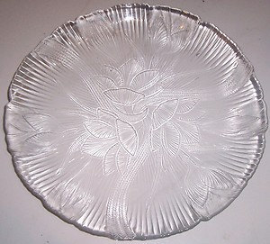 Arcoroc Clear Glass Canterbury Design Large Dinner Plate - Made In France