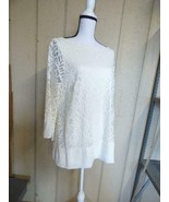 $89.50 Charter Club Autumn Elegant Women's Plus Size Lace Blouse, Size X... - $29.35