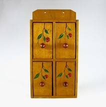 Wooden Spice Cabinet, Spice Box, Mid-Century, Japan, Hand-Painted, Red C... - £47.84 GBP