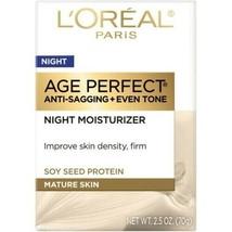 L'OREAL AGE PERFECT NIGHT MOISTURIZER - MATURE SKIN - 2.5 OZ. - $14.99
