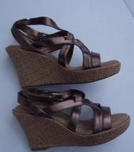 White Mountain Bronze Women's Wedge Strap Sandal Size 6 - $39.59