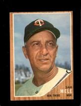 1962 Topps #482 Sam Mele Vgex Twins Mg *XR22135 - $4.00