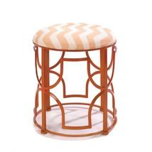 Portable Stool, Chic Chevron Round Decorative Backless Metal Garden Stool - £74.50 GBP