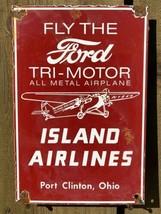 Vintage Ford TRI-MOTOR Airplane Motor Porcelain Sign Oil Gas Station Airline - $142.45