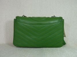 NWT Tory Burch Watercress Green Leather Fleming Convertible Shoulder Bag image 4