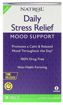 Natrol Daily Stress Relief, Mood Support ,30 Mg Tablets ,Lower price - $10.14
