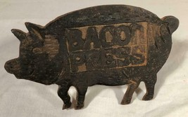 VINTAGE CAST IRON PIG SHAPED BACON PRESS - $33.92 CAD