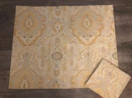 Pottery Barn Gold Gray Medallion Standard Pillow Shams Nwot - $26.68