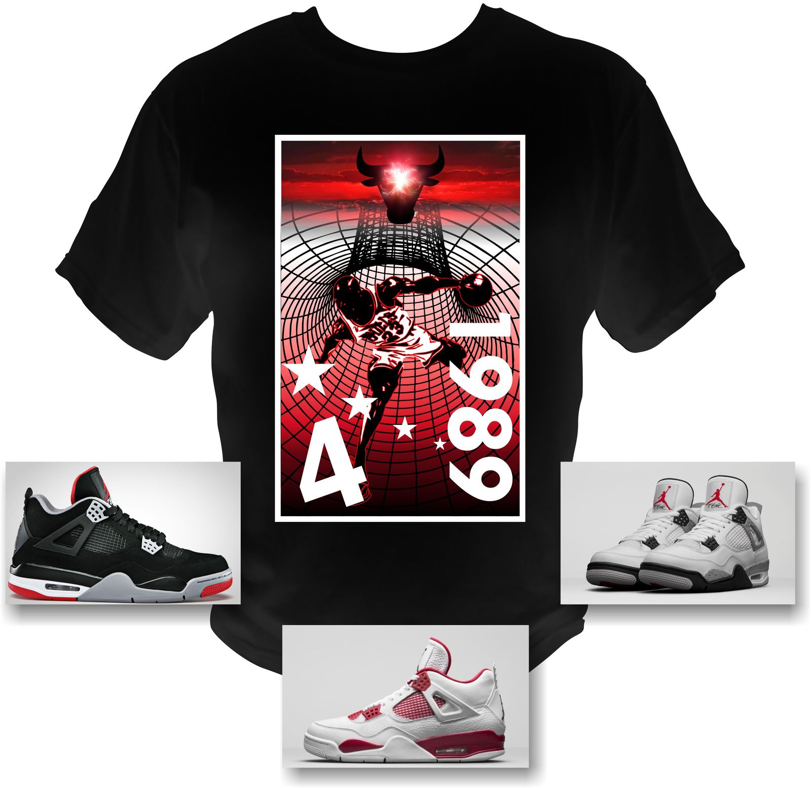 5a0ad900c78384 M Jordan 4 Cement 4 s Michael Jordan T-Shirt and 50 similar items