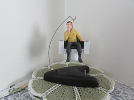 Captain Kirk 1995 Hallmark ornament w/Star Trek 30 Years base w/recordin... - $18.70