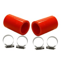 High Temp for Yamaha Banshee 350 Exhaust Pipe Seal Silicone + Clamps Red 2 Pcs - $16.83