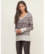 Abercrombie & Fitch Patterned V-neck Sweater BURGUNDY PATTERN, size L, NWT - $68.00