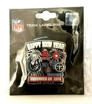 NFL Colts VS Titans Dec. 28, 2014 LP Field Happy New Year Lapel Pin Fire... - $13.00