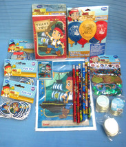Disney Jake Never Land Pirates Birthday Party Lot Balloons Confetti Pencil More - $19.95