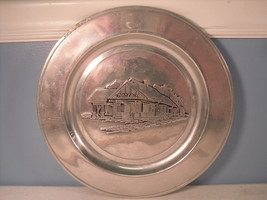 Wayzata Railroad Station Minneapolis Minnesota Wilton Pewter GN Depot Plate - $29.70