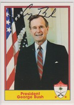 George H.W. Bush Signed Autographed 1991 Pacific Desert Shield Trading Card - $199.00