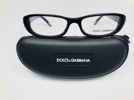 New Authentic Dolce Gabbana Black & Gold Eyeglasses 54/16/135 with Case - $78.21