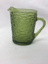 Avocado Green Anchor Hocking Soreno Glass Creamer - $12.86