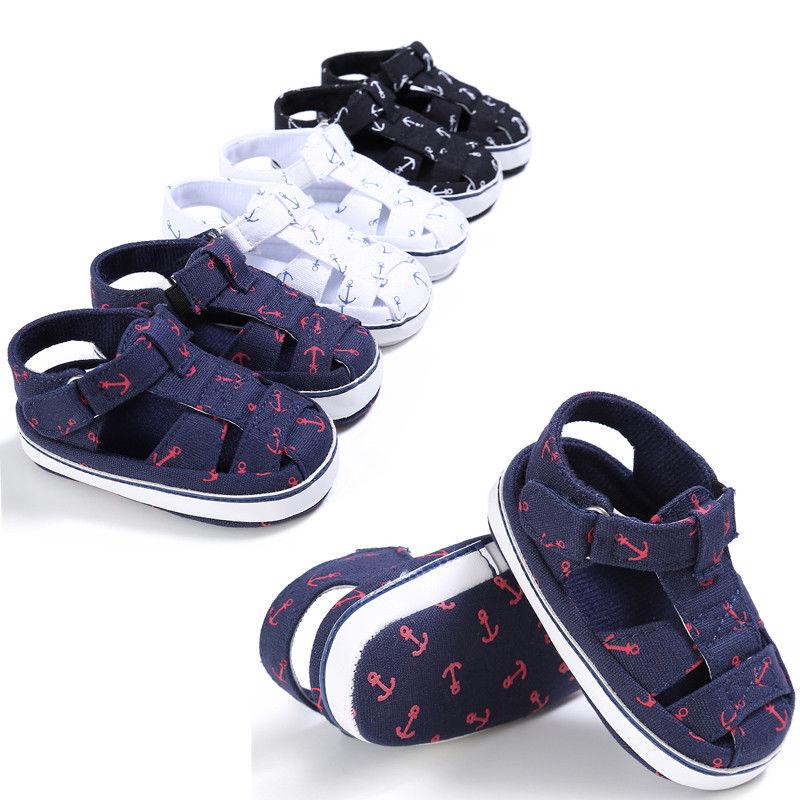 New Baby Girl Barefoot Rosette Flower Handmade Sandal Shoes 0-12 months