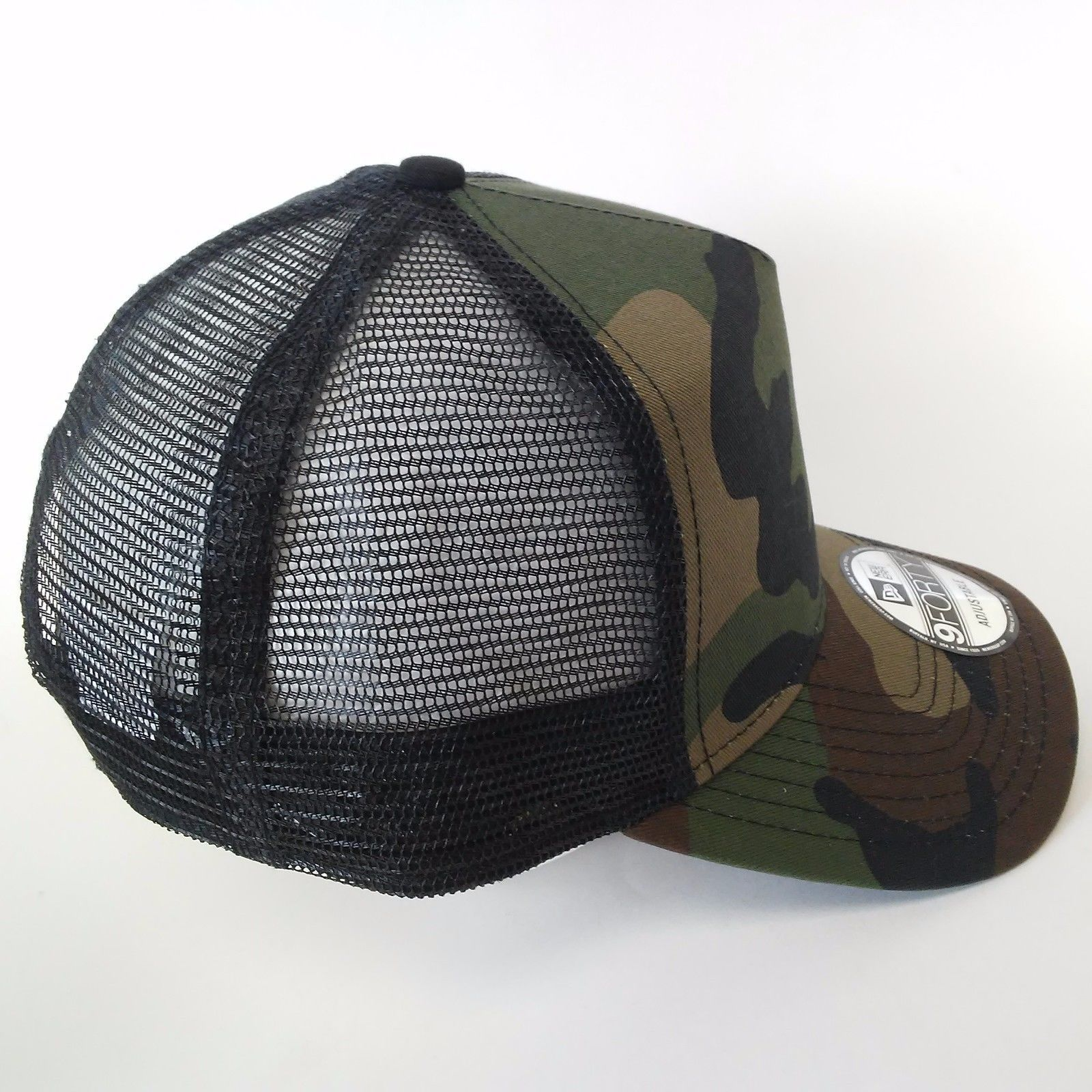 New Era 9FORTY Snapback Trucker Cap Blank Camouflage Black Camo Military  9Forty afd7ae3a9712